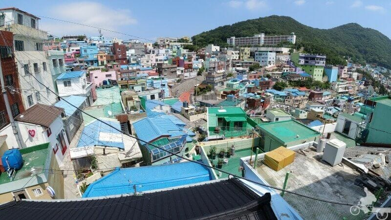 vistas en Gamcheon Culture Village desde sus terrazas y miradores