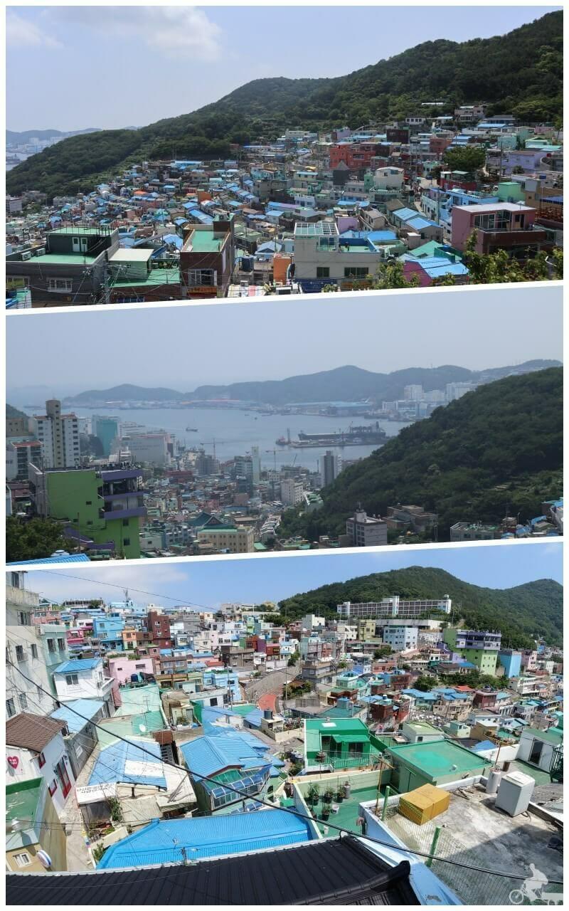 vistas en Gamcheon Culture Village - Santorini de Corea del Sur