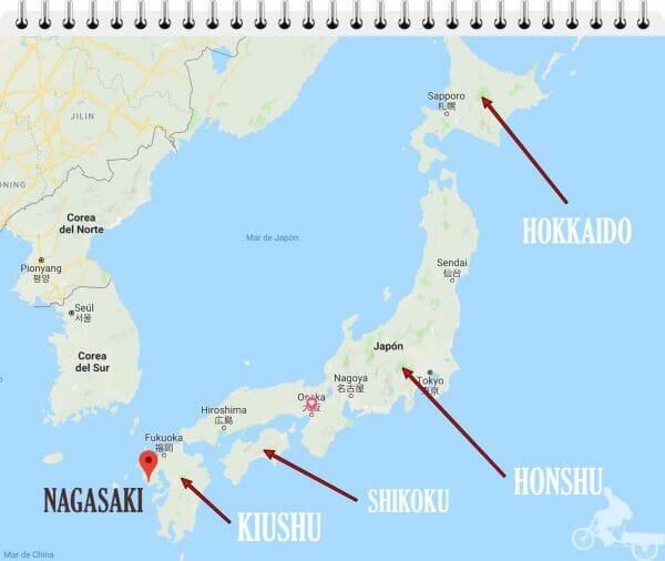 mapa de nagasaki