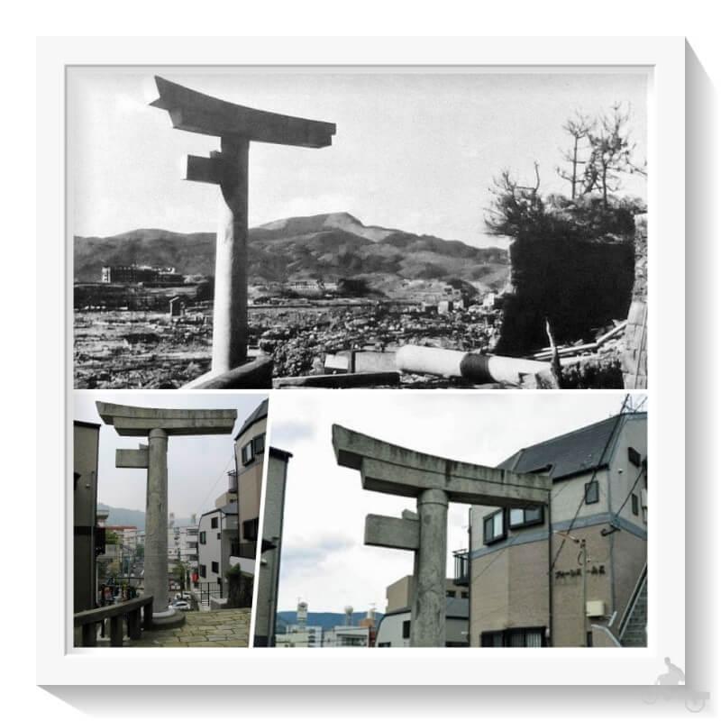 Torii del santuario Sanno shinto - qué ver en Nagasaki en un día