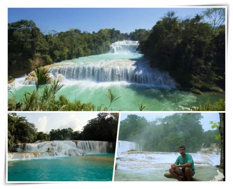 aguas azules cascadas