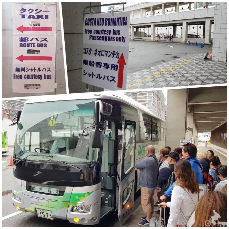 bus gratis del puerto de harumi