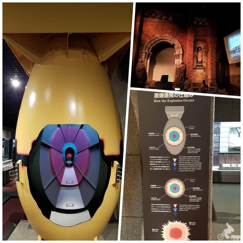 interior museo bomba atomica - qué ver en Nagasaki en un día
