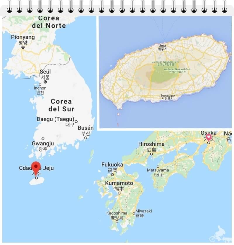 mapa isla de jeju