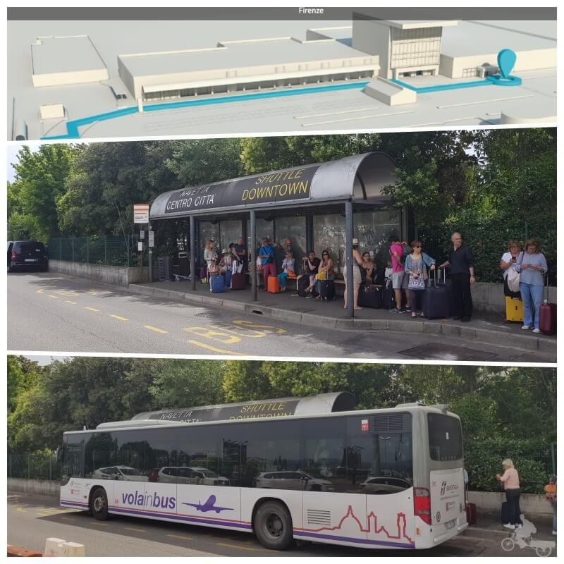 parada vola in bus aeropuerto -florencia
