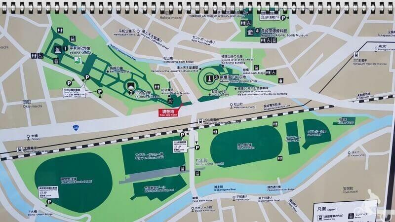 parque de la paz nagasaki mapa