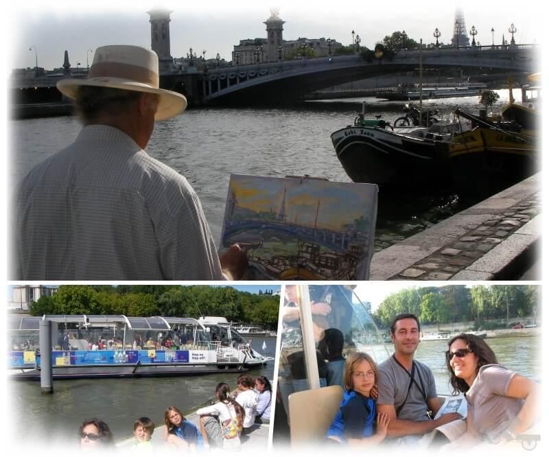 paseos en barco por el río Sena