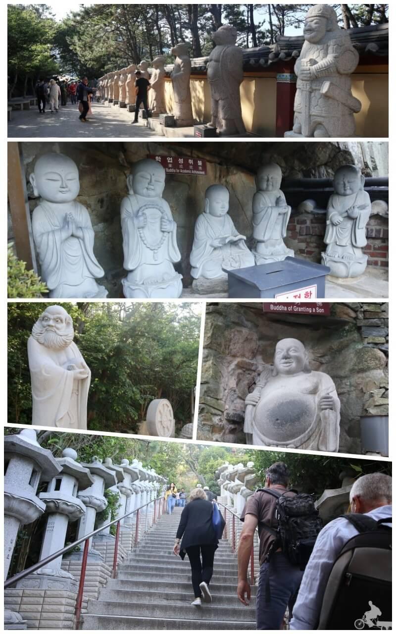 esculturas templo haedong yonggungsa