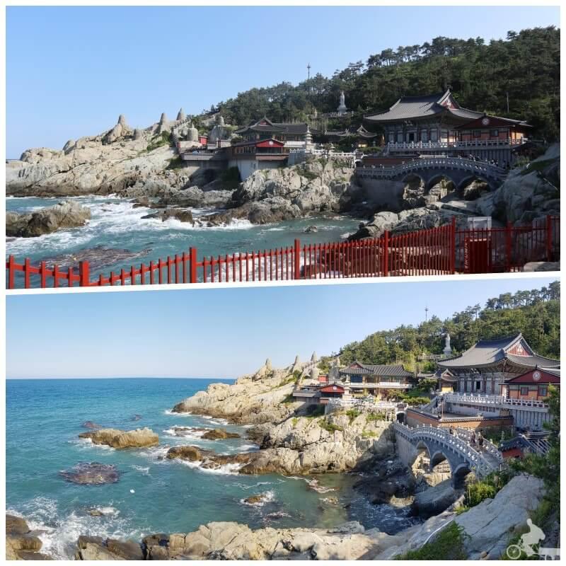 templo junto al mar en busan corea sur