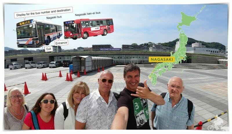 cómo ir del puerto de Nagasaki al centro