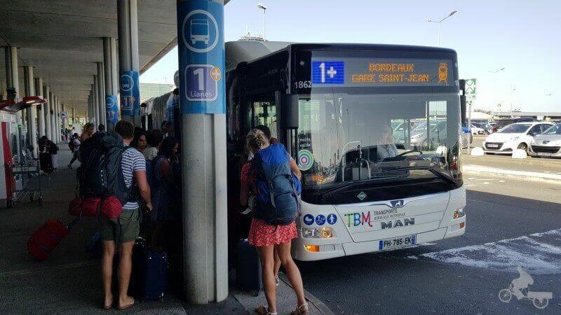 aeropuerto burdeos bus 1