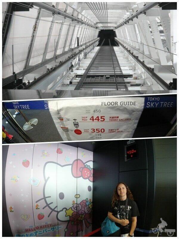 ascensor tokyo skytree - del tembo deck al gallery