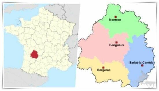 mapa dordoña perigord