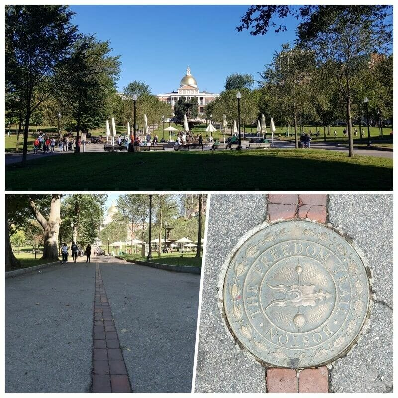 Massachusetts State House desde common park boston