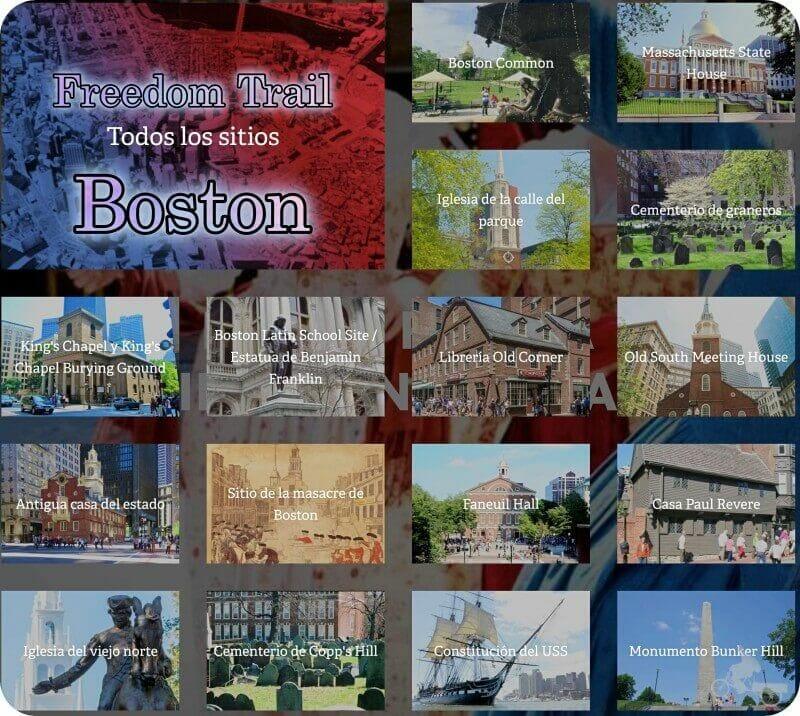16 paradas ruta freedom Trail boston