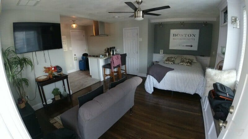 interior apartamento en Boston con airbnb