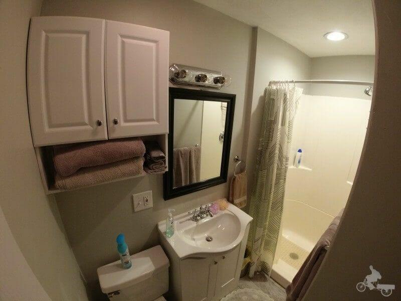 baño apartamento en Boston con airbnb