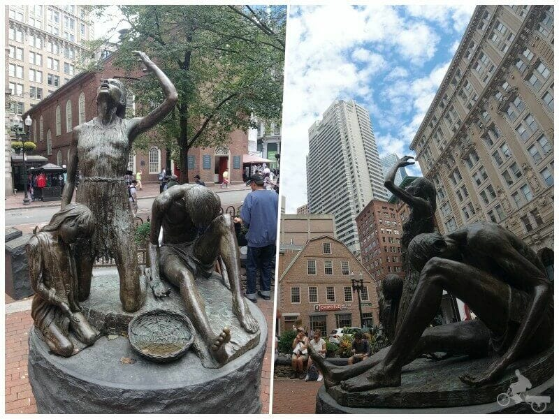 monumento a la hambruna irlandesa en boston