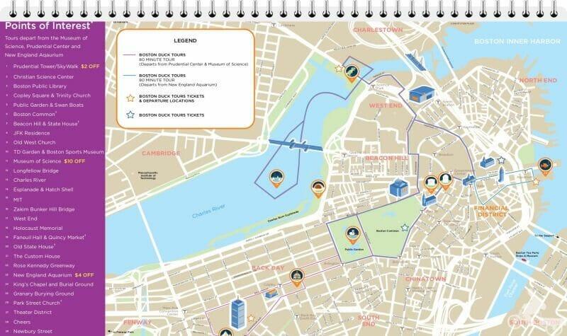 mapa ruta boston duck tours