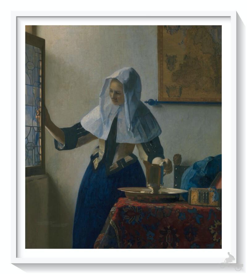 Mujer con una jarra de agua - vermeer - mejores obras del Metropolitan museum