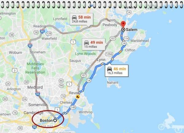 cómo ir de Boston a Salem