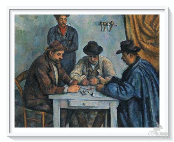 jugadores de cartas - mejores obras del Metropolitan museum