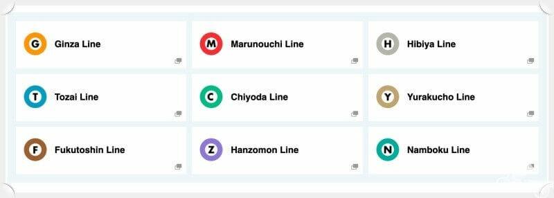 líneas de metro de tokio