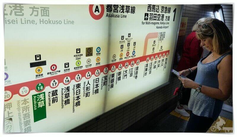mapa lineas metro tokio