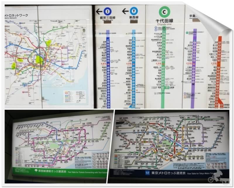 mapa líneas de metro tokyo