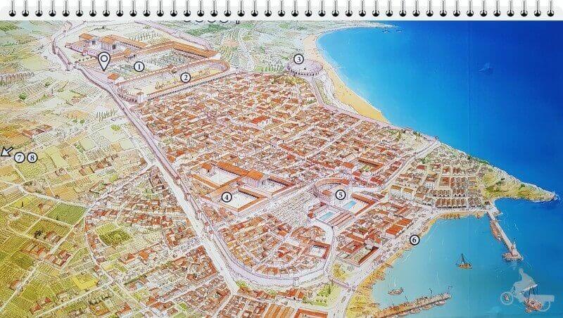 mapa tarraco romana