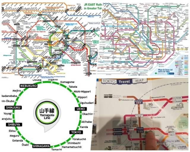 mapa transporte tokio
