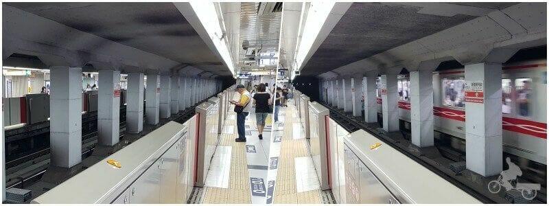 anden del metro de tokio