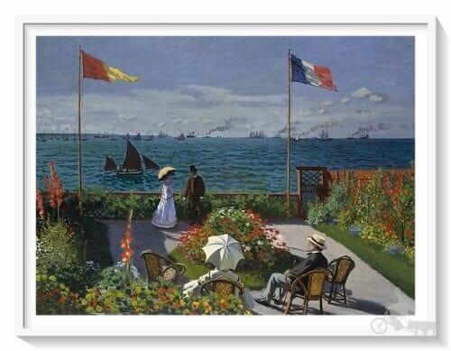 Terraza de Sainte-Adresse de Monet - mejores obras del Metropolitan museum