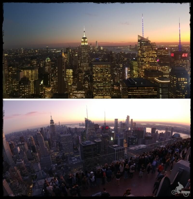 top of the rock noche - TOP lugares para visitar en New York al atardecer