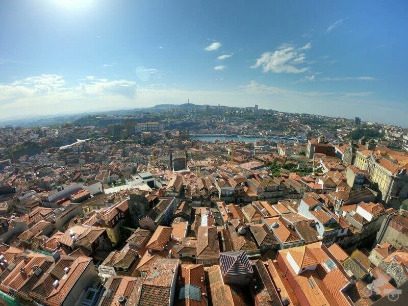 vistas desde la torre de los Clérigos de Oporto