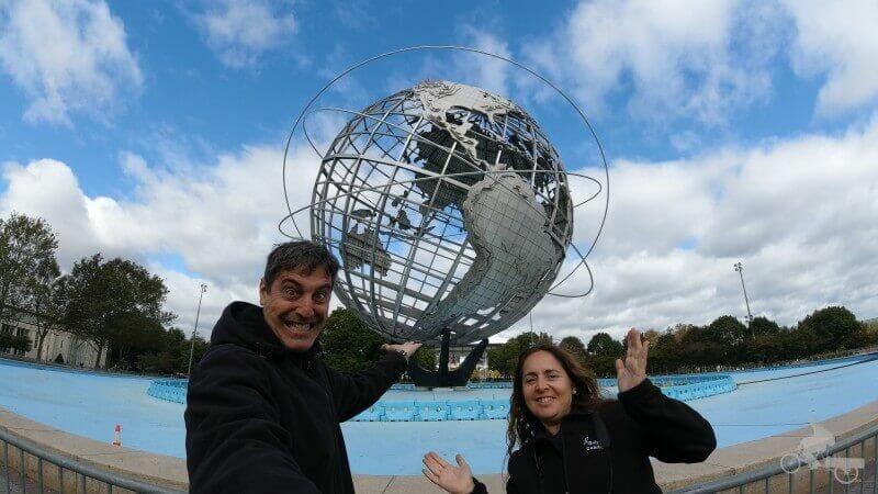 Unisphere (la gran bola del mundo en Nueva York