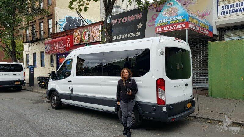 furgoneta tour contrastes nueva york