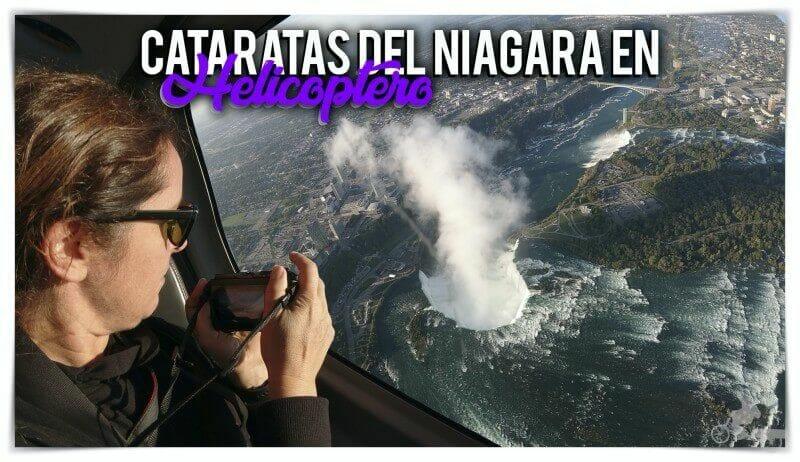 cataratas del niágara en helicóptero