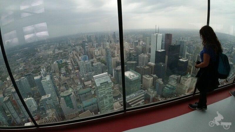 vistas desde la torre de Toronto CN Tower
