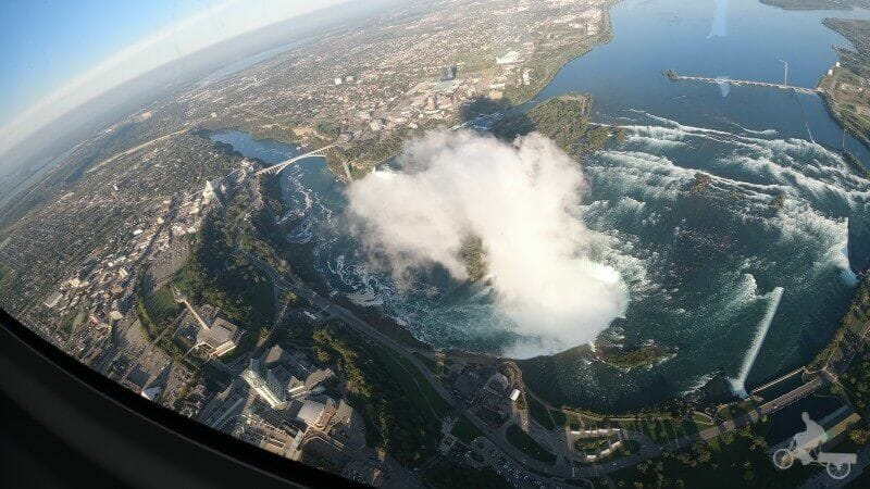 vistas de cataratas del niagara desde el aire