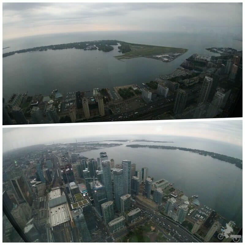 vistas desde la torre de Toronto
