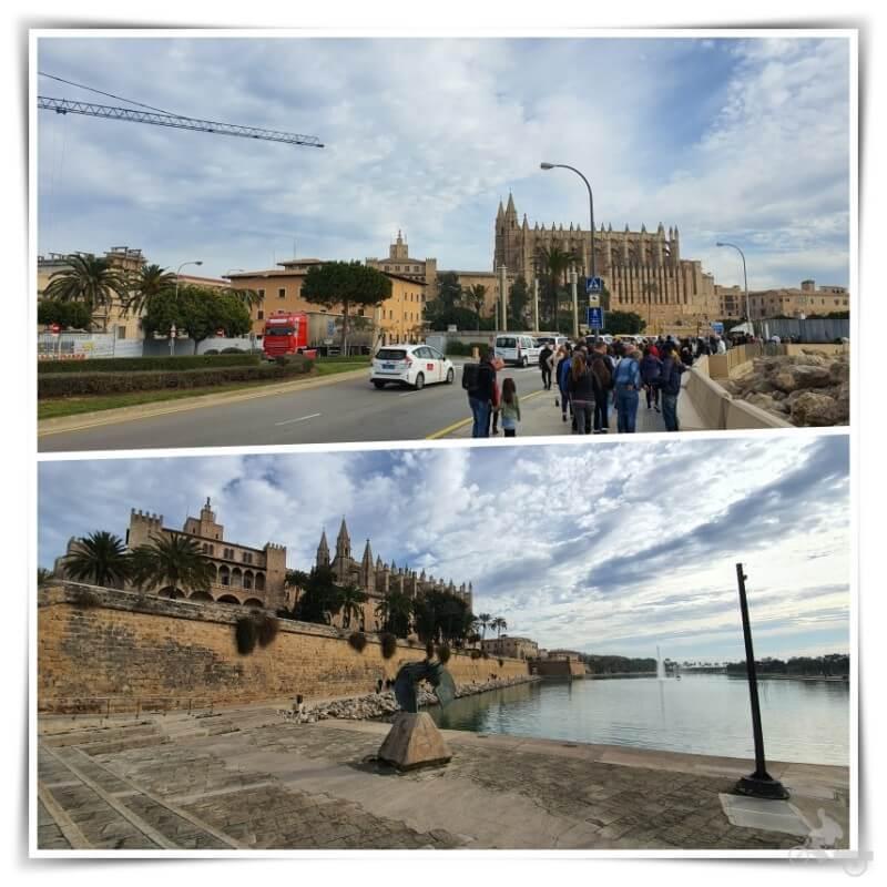 catedral de Palma de Mallorca desde parada de bus lanzadera crucero