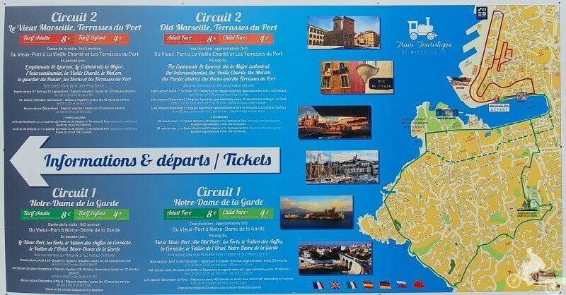 recorrido tren turístico - que ver y hacer en Marsella en una escala de crucero