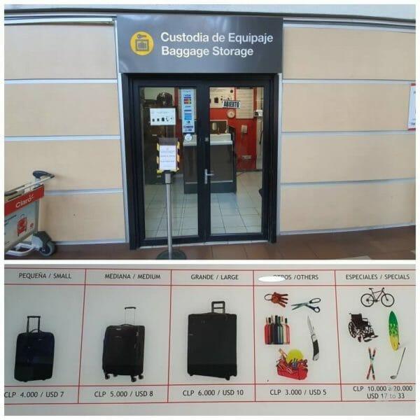 custodia de equipajes aeropuerto santiago chile