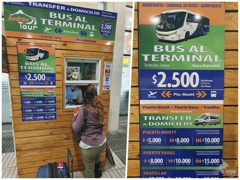 precios bus aeropuerto puerto Montt