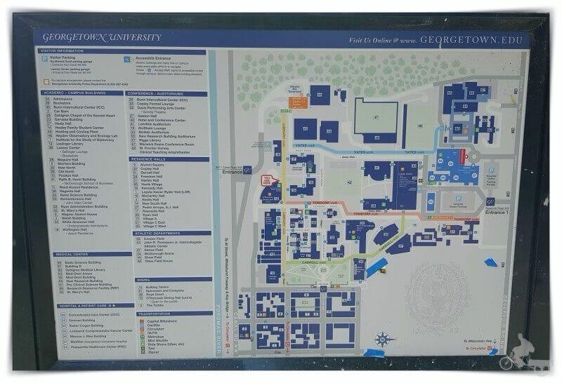 plano de la Universidad de Georgetown