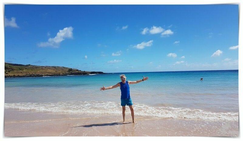 playa de Anakena en Rapa Nui