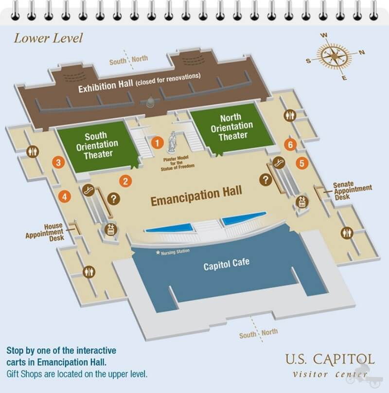 visitor center capitolio washington