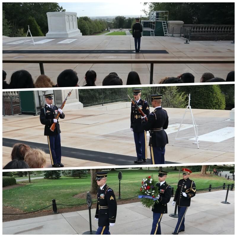 cambio de guardia cementerio de Arlington