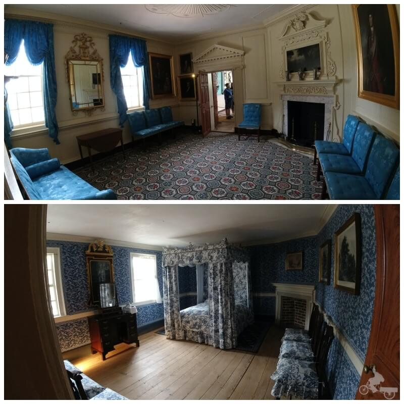 interior casa George Washington - visitar Mount Vernon